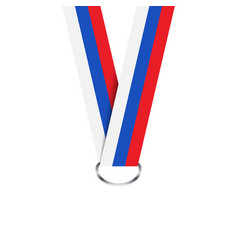 russian ribbon for medal russian tricolor vector image