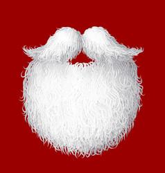 santa s beard vector image