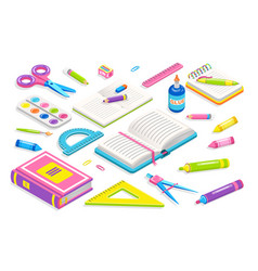 school chancery collection vector image