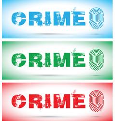 Set of crime fingerprint vector