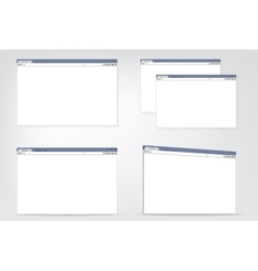 Set of flat internet browser windows with copy vector image