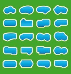 Set twenty swimming pool icons isolated over vector