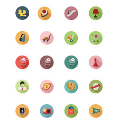 Shopping Flat Colored Icons 5 vector