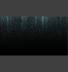 silver glitter seamless border on black background vector image