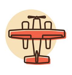 Small amphibian seaplane plane flat icon vector