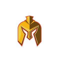 Spartan Helmet Retro vector