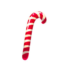 Spiral andy-cane holiday confection candy icon vector