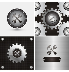 symbol and background vector image