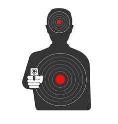 Targets on dangerous criminal black silhouette vector