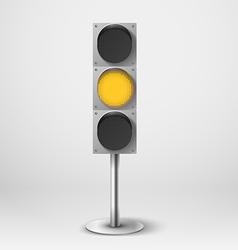 Traffic light yellow diod traffic light te vector