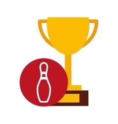 Trophy cup winner sport vector