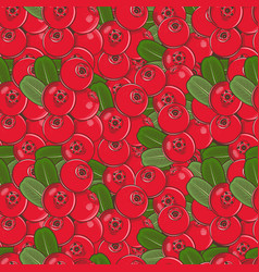 Vintage cowberry seamless pattern vector