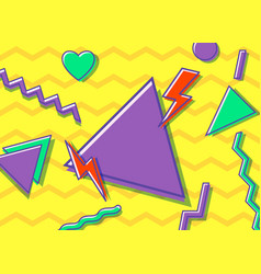 vintage style 90s vector image