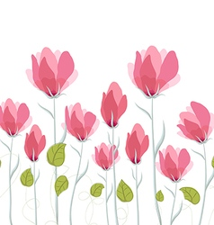 Watercolor Flowers Poppies vector image