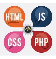 Web developer design vector image