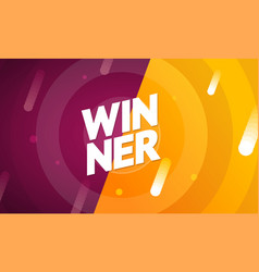 winner concept on a abstract color background vector image