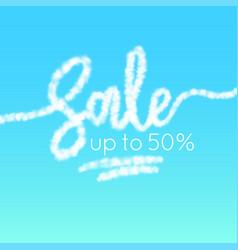 word sale is written in sky realistic vector image