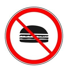 Do not eat sign vector