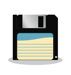 floppy diskette in retro style isolated on a vector image vector image