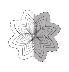 flower garden decoration cut line vector image vector image