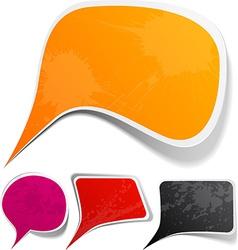 Grunge speech label designs vector