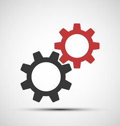 icons of mechanical gears vector image vector image