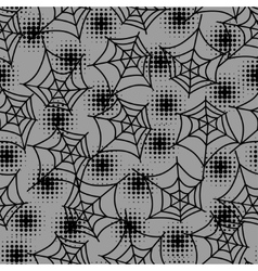 Seamless halloween pattern with spiderweb in vector image