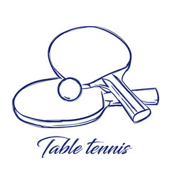 table tennis bats and ball vector image