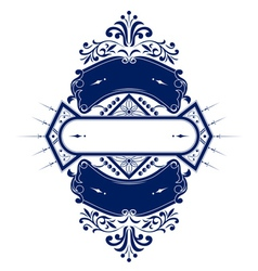 vintage emblem ribbon vector image