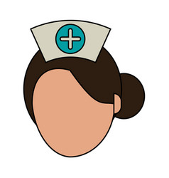 nurse faceless avatar vector image vector image