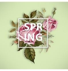 Spring vintage vector