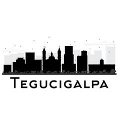 tegucigalpa city skyline black and white vector image vector image