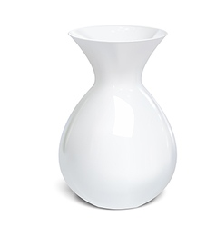 White vase isolated on a white background vector image vector image