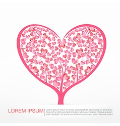 003 Heart Tree element for valentine day and vector image