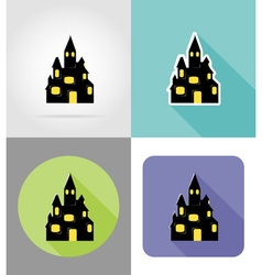 halloween flat icons 05 vector image vector image