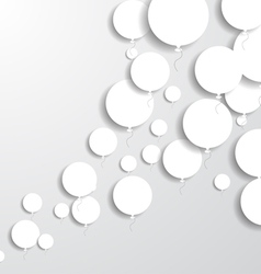 Paper Balloons vector image vector image