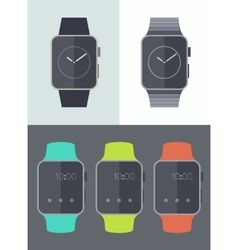 Smart watch icons isolated Trendy flat vector image