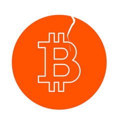 symbol of digital crypto currency bitcoin round vector image