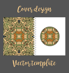 cover design with colored tribal pattern vector image vector image