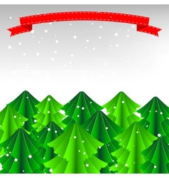 Merry Christmas Card or Background vector image