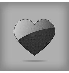 metal heart vector image