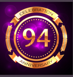 ninety four years anniversary celebration with vector image