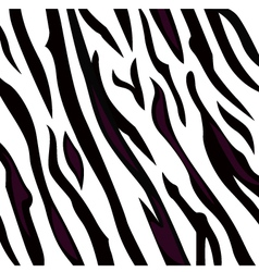 Zebra black and white pattern with stripes vector image vector image