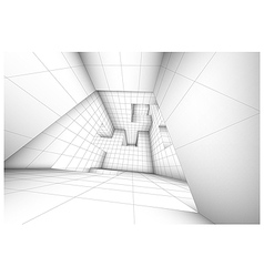 3d futuristic labyrinth shaded interior vector image