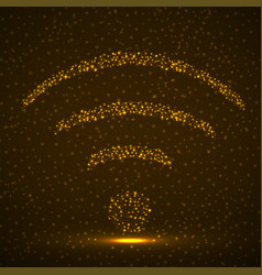 Abstract sign wifi glowing particles vector