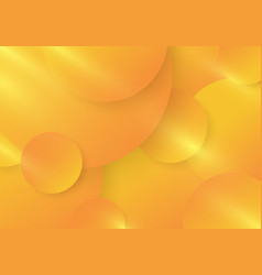 abstract yellow and orange gradient color circles vector image