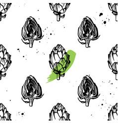 artichokes pattern vector image