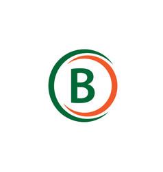 b company logo template design vector image