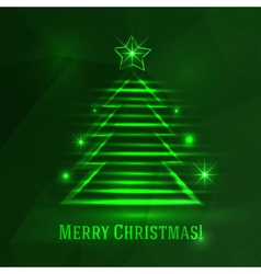 Background with shiny fir tree vector image