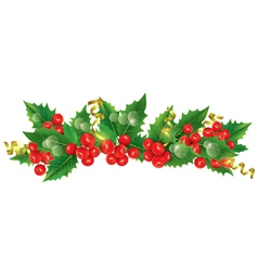 Beautiful Christmas garland vector image